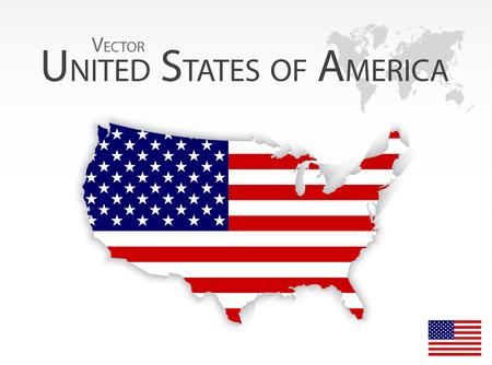 united: United States of America ( map and flag ) Illustration