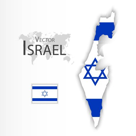israelite: State of Israel ( flag and map )( transportation and tourism concept )
