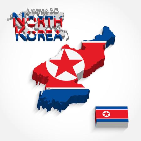 pyongyang: North Korea 3D ( Democratic People s Republic of Korea ) ( flag and map ) ( transportation and tourism concept )
