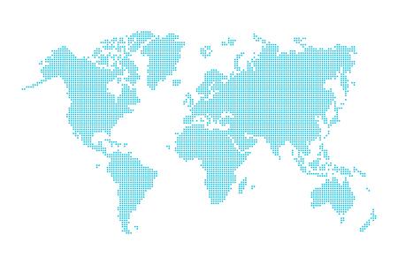 Mapa świata (styl przerywana) Ilustracje wektorowe
