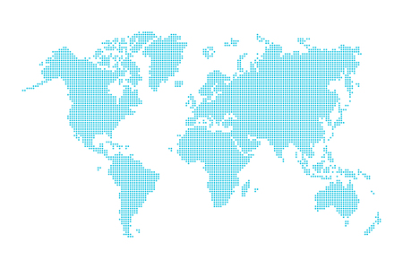 World map ( dotted style )