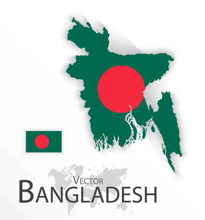 2d map: Bangladesh ( People�s Republic of Bangladesh ) ( flag and map ) ( transportation and tourism concept )
