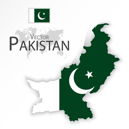 islamabad: Pakistan ( Islamic Republic of Pakistan ) ( flag and map ) ( transportation and tourism concept ) Illustration