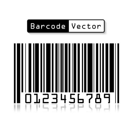 merchandize: Bar code on white background . Illustration