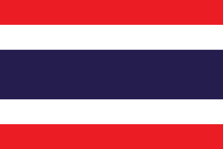 simplex: Official flag of Thailand .