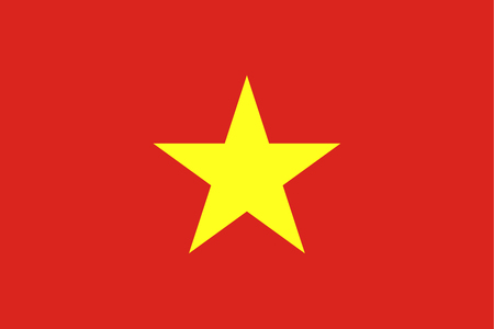 Official flag of Vietnam . Socialist Republic of Vietnam