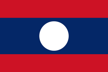 lao: Official flag of Laos . Lao Peoples Democratic Republic
