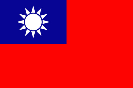simplex: Official flag of Taiwan .