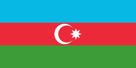 Official flag of Azerbaijan . Republic of Azerbaijan .