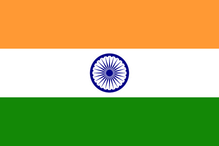 Official flag of India . Republic of India . Illustration