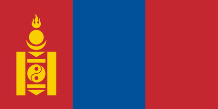 simplex: Official flag of Mongolia .