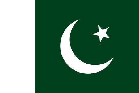 Official flag of Pakistan . Islamic Republic of Pakistan . Illustration
