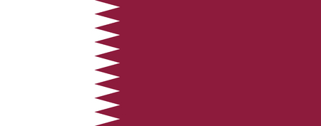 simplex: Official flag of Qatar .  State of Qatar .