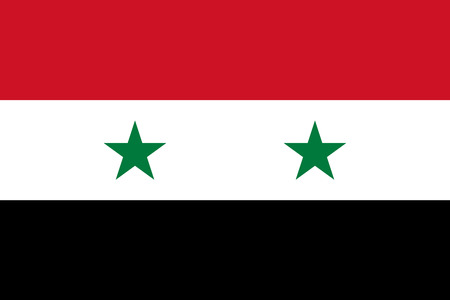 simplex: Official flag of Syria . Syrian Arab Republic .