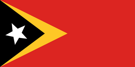 simplex: Official flag of East Timor . Democratic Republic of Timor-Leste .