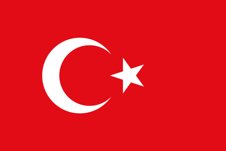 simplex: Official flag of Turkey . Republic of Turkey . Illustration