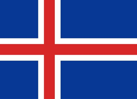simplex: Official vector flag of Iceland . Republic of Iceland .