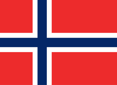 Official vector flag of Norway . Kingdom of Norway . Reklamní fotografie - 68098407