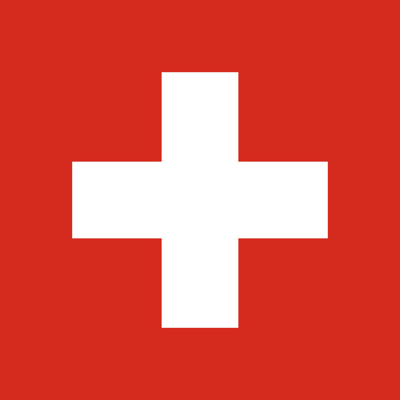 swiss insignia: Official vector flag of Switzerland . Swiss Confederation .