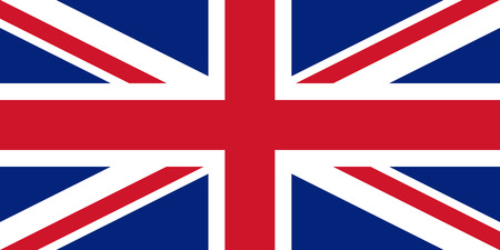 officially: Official vector flag of United Kingdom of Great Britain . UK . Illustration