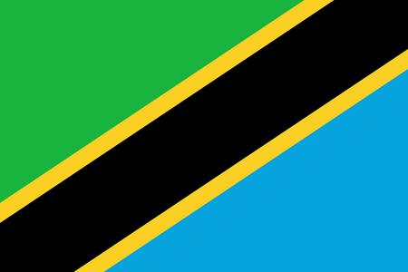 tanzania: Official vector flag of Tanzania . United Republic of Tanzania .