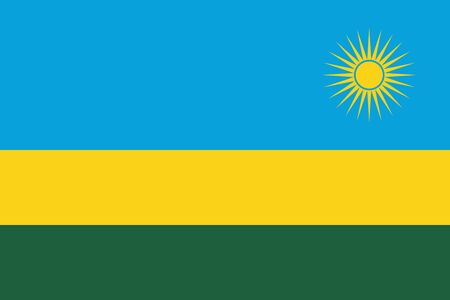 continente africano: Official vector flag of Rwanda . Republic of Rwanda . Vectores