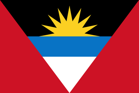 north america: Official vector flag of Antigua and Barbuda . Illustration
