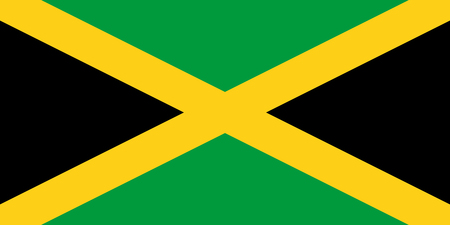 officially: Official vector flag of Jamaica .