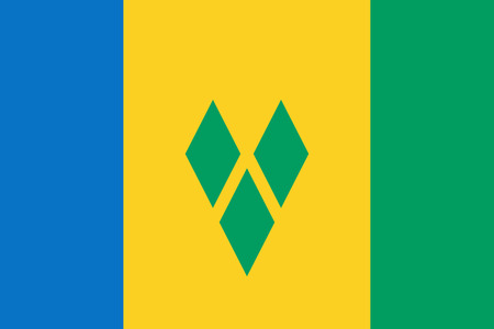 simplex: Official vector flag of Saint Vincent and the Grenadines .