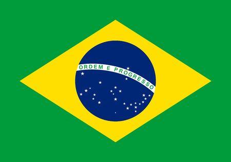 federative republic of brazil: Official vector flag of Brazil .  Federative Republic of Brazil .