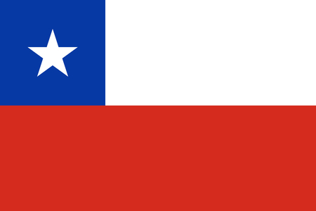 simplex: Official vector flag of Chile . Republic of Chile .