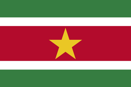 simplex: Official vector flag of Suriname . Republic of Suriname .