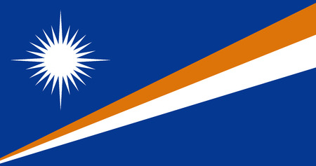 officially: Official vector flag of Marshall Islands . Republic of the Marshall Islands .