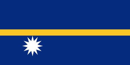 Official vector flag of Nauru . Republic of Nauru . Illustration