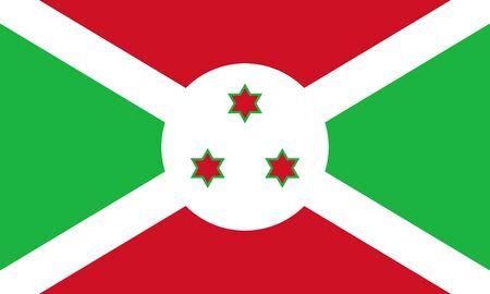 Official vector flag of Burundi . Republic of Burundi .