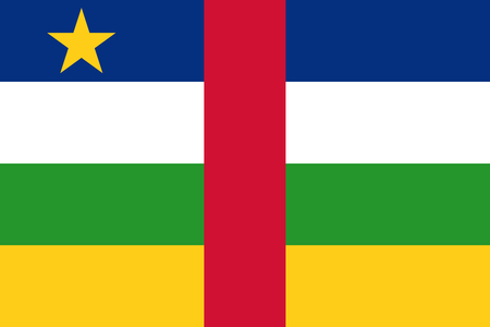 simplex: Official vector flag of Central African Republic . ( CAR )