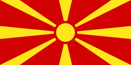 Official vector flag of Republic of Macedonia .