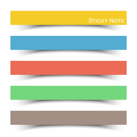 sticky: Sticky note with flat color