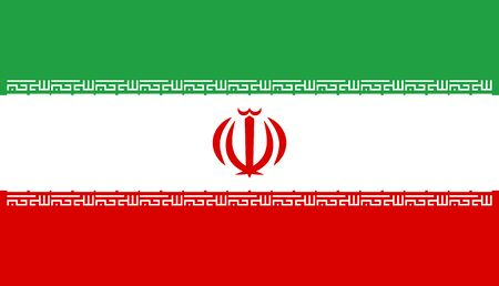 simplex: Official vector flag of Islamic Republic of Iran .