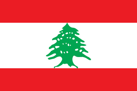 simplex: Official vector flag of Republic of Lebanon . Illustration