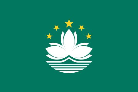 Official vector flag of Macau ( Macao Special Administrative Region of the Peoples Republic of China )