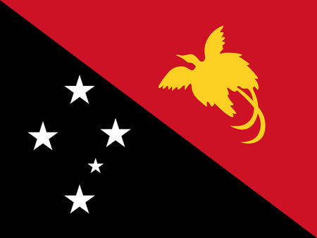 Drapeau de vecteur officiel de l'État indépendant de Papouasie-Nouvelle-Guinée. Vecteurs