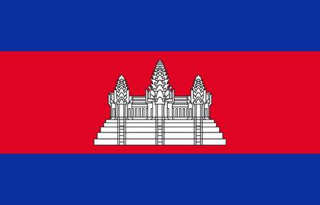 Official vector flag of the Kingdom of Cambodia .