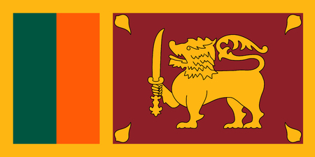 colombo: Official vector flag of the Democratic Socialist Republic of Sri Lanka .
