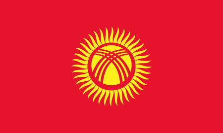 flag: Official vector flag of Kyrgyzstan . ( Kyrgyz Republic ) Illustration