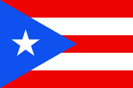 Official vector flag of Commonwealth of Puerto Rico .