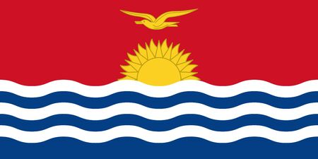 Official vector flag Republic of Kiribati .