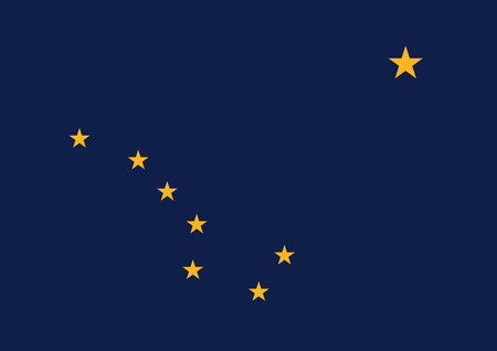 Official vector flag of Alaska .