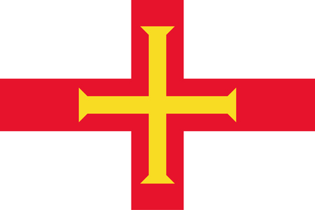 simplex: Official vector flag of Bailiwick of Guernsey .