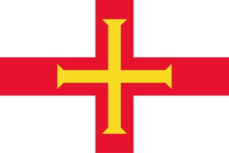 Official vector flag of Bailiwick of Guernsey .